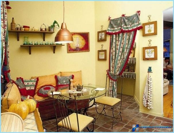 Zemnieciska stila virtuves interjers