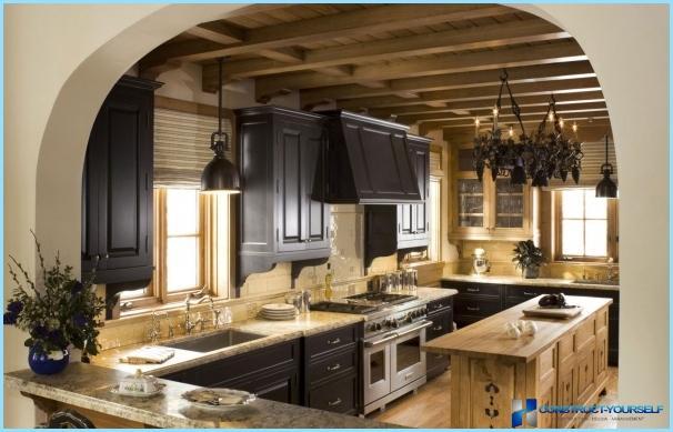 Kitchen design in Chalet style