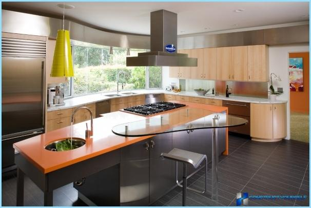 Kitchen interior in fusion style
