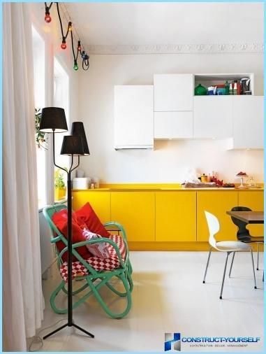Modern design ideas wall in the kitchen