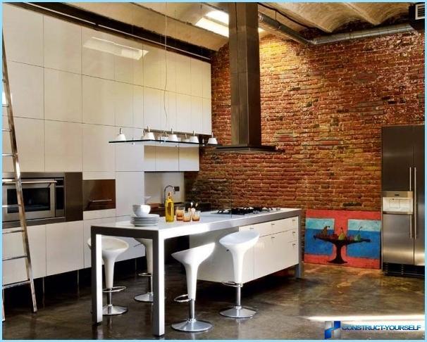 Loft stil køkken design