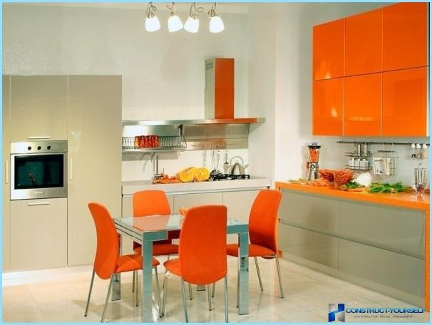 Kitchen design orange color