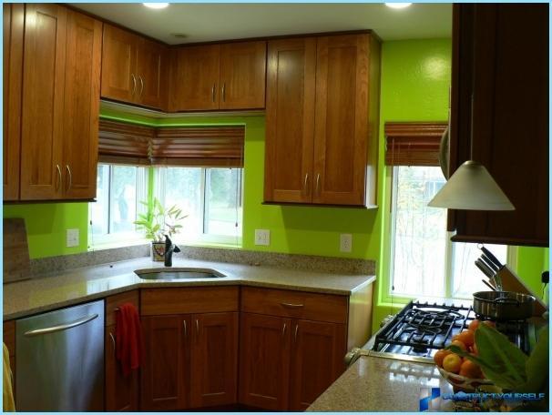 Lysgrønt køkken design