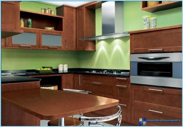 Kitchen design green color