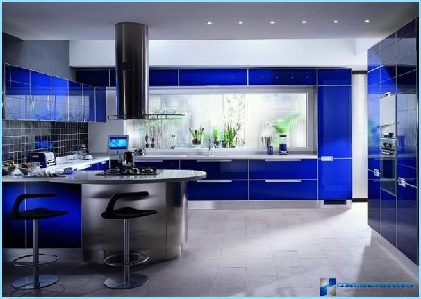 Forskellige farvekombinationer til køkkenet