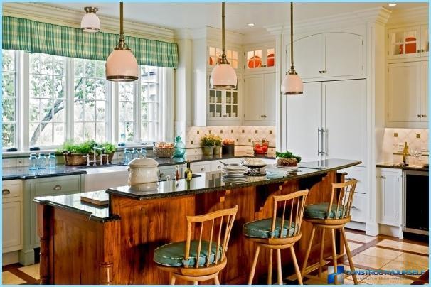 Lustras virtuves interjerā