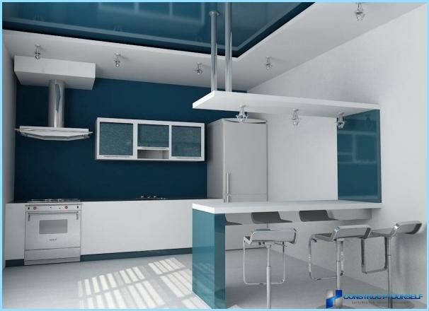 Det indre af bykøkkenet i en moderne stil