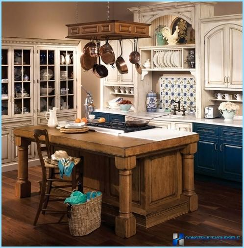 Country style in kitchen interior