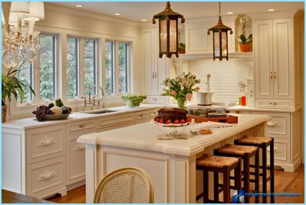 Kitchen design in the style of Provence