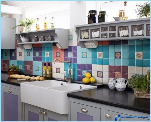 Virtuves priekšauta flīze