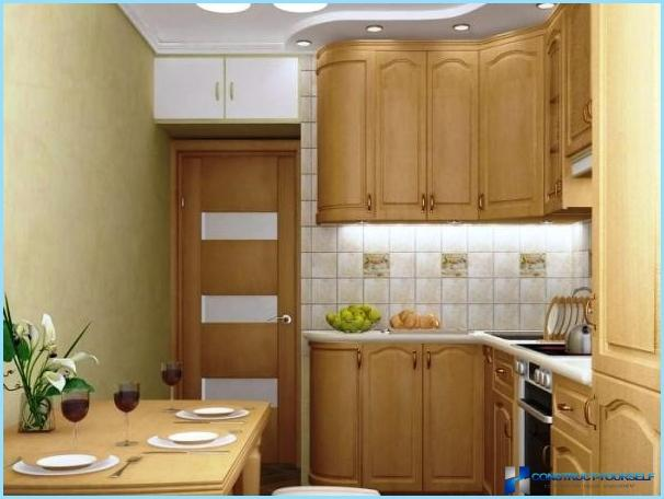 The interior of the kitchen without window