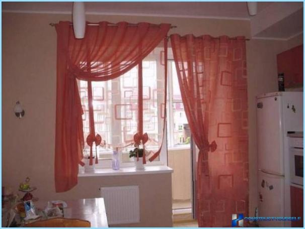 How to sew curtains for the kitchen with their hands
