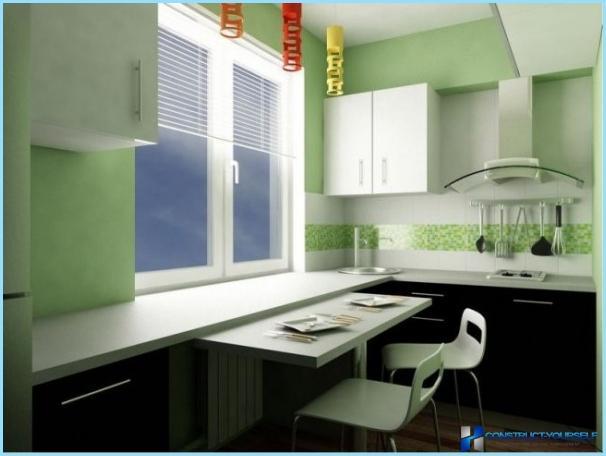 Innenarchitektur einer kleinen Küche