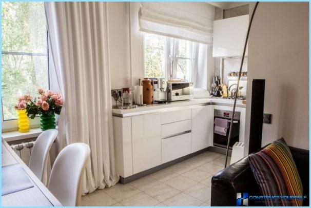 Kitchen Studio 20, 18, 16 kvadratmeter. m. - stilig moderne design