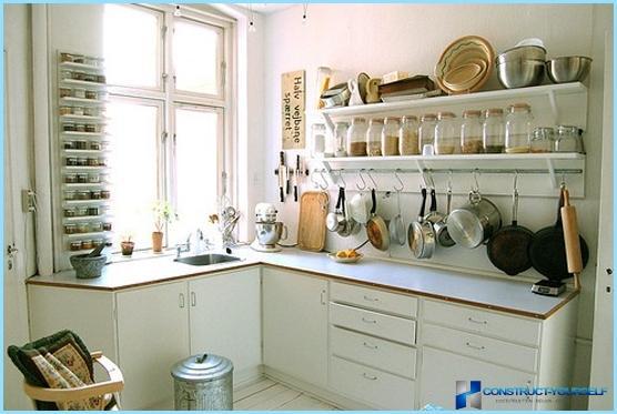 Cucina design in un piccolo appartamento