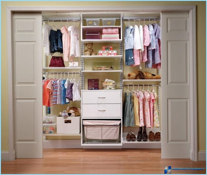 Garderobe i det indre af gangen