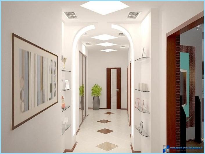 تصميم ممر ضيق وطويل في الشقة