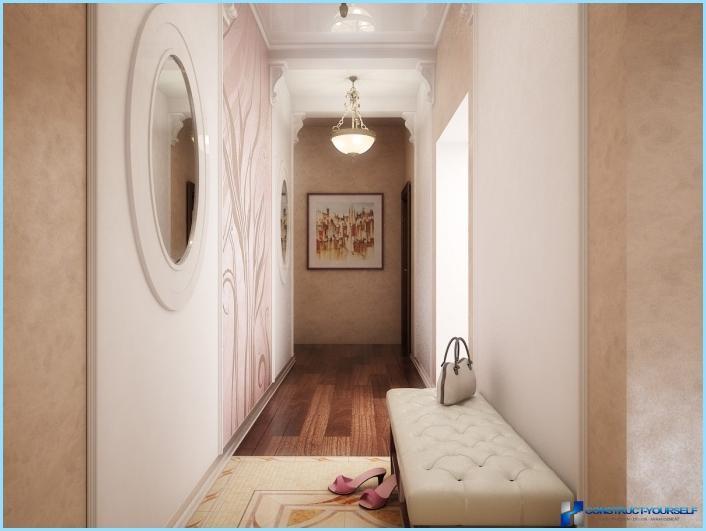 Suunnittele kapea ja pitkä käytävä asuntoon