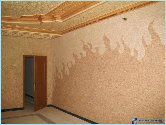 Flydende tapet i det indre af gangen