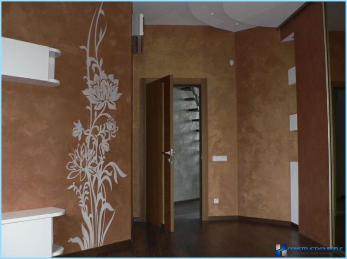 Nestemäinen taustakuva käytävän sisätiloissa