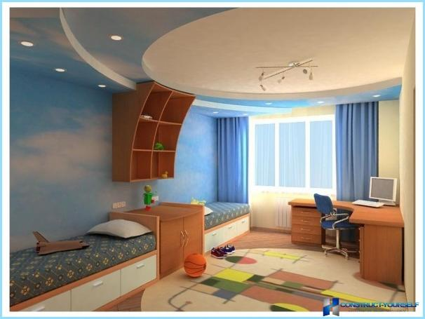 Stretch ceiling in the nursery