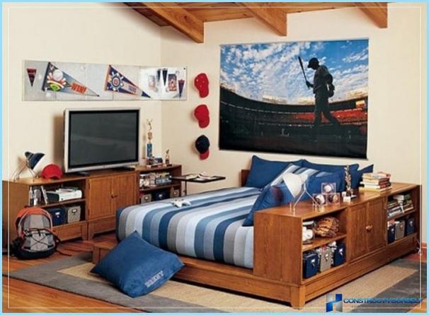 Camera interna per un ragazzo adolescente