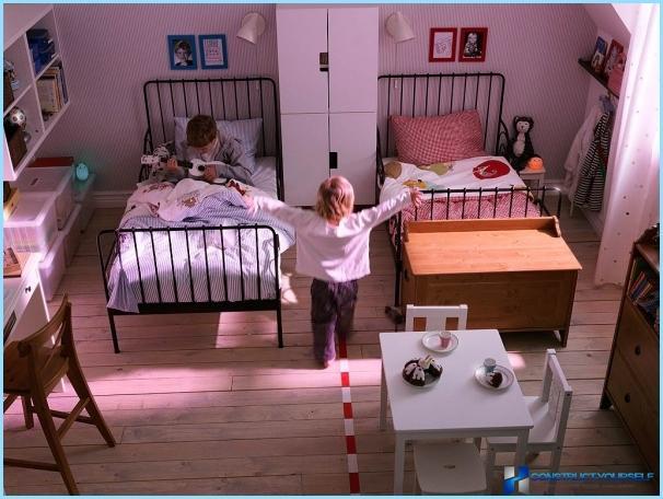 Suunnittele lastenhuone heteroseksuaalisille lapsille