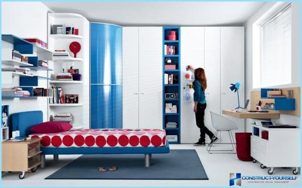 Wnętrze pokoju dla nastolatki