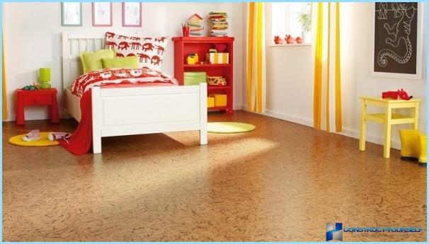 The flooring in the nursery