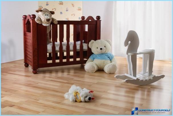 Vloeren in de kinderkamer