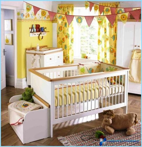 The interior of the nursery for a boy