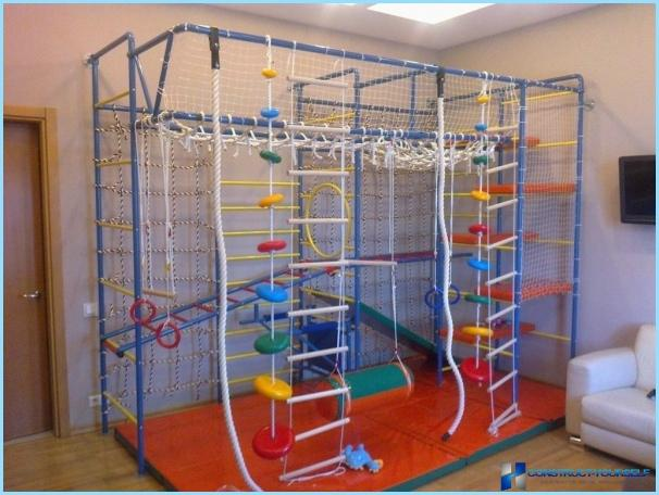 Angolo sportivo nella stanza dei bambini