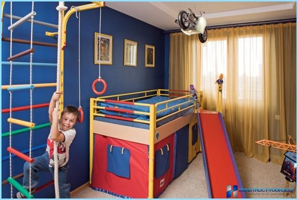 Sports area in the children's room