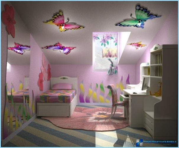 Decorative butterflies for wall decoration