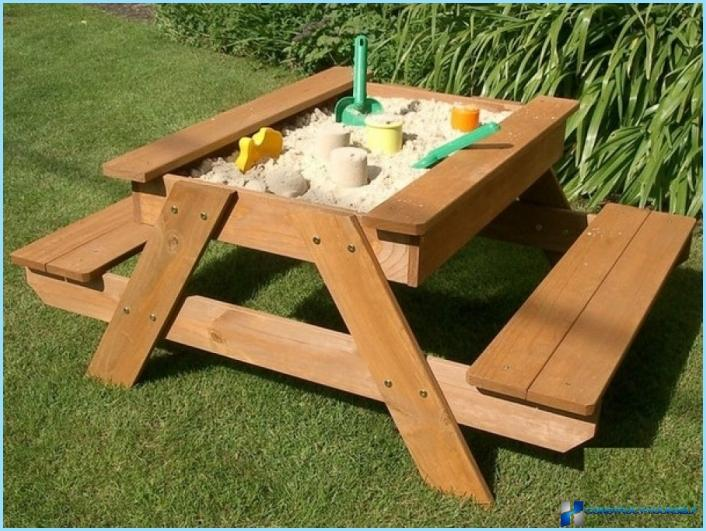 A sandbox for children in the country