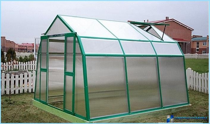 How to make a greenhouse out of galvanized profile