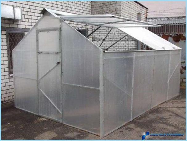 Drivhus konvertible med aftageligt polycarbonat tag