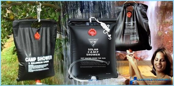 Bærbart opvarmet brusebad