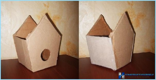 Make a birdhouse with your hands on the blueprints, pictures, and videos