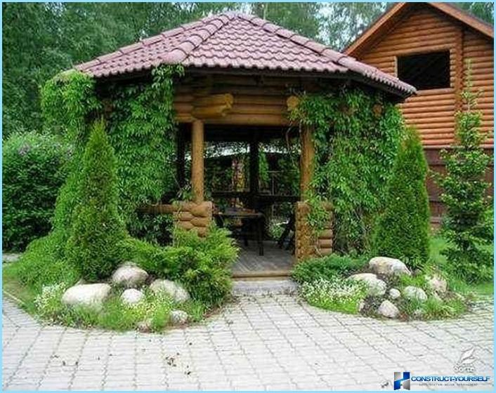Country landscape design with their hands