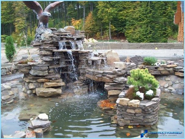 How to make a waterfall with your hands at the cottage