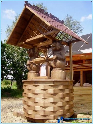 Kendi elleriyle yazlıkta dekoratif bir kuyu yapmak
