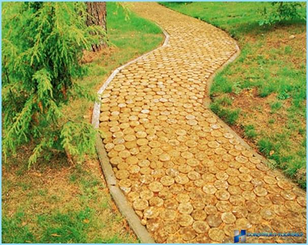 Garden paths: of tires, rubber, wood