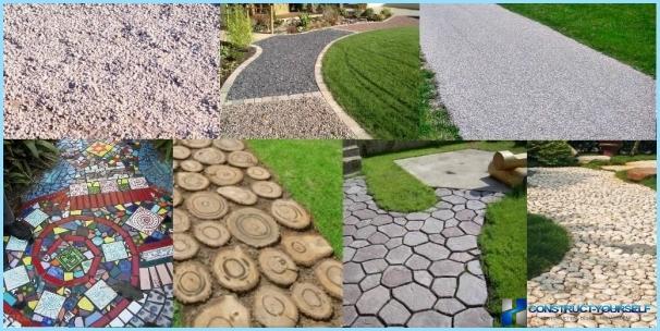 Ścieżki ogrodowe: z opon, gumy, drewna