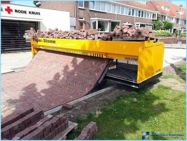 Mix for paving slabs
