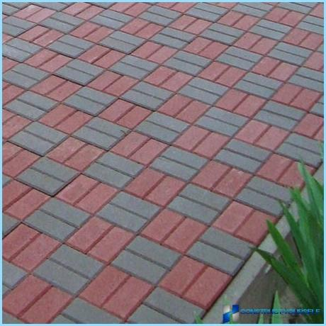 Technology of production of paving tiles with their hands