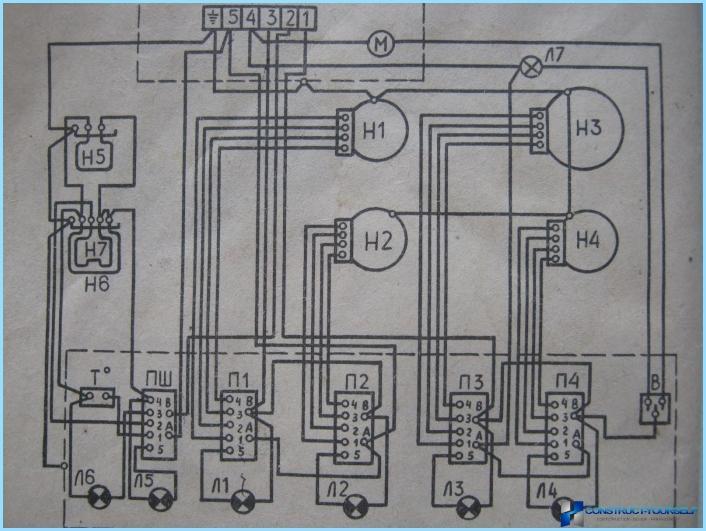Sähkölevyn kytkentäkaavio