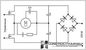 Connection diagram of fan speed controller