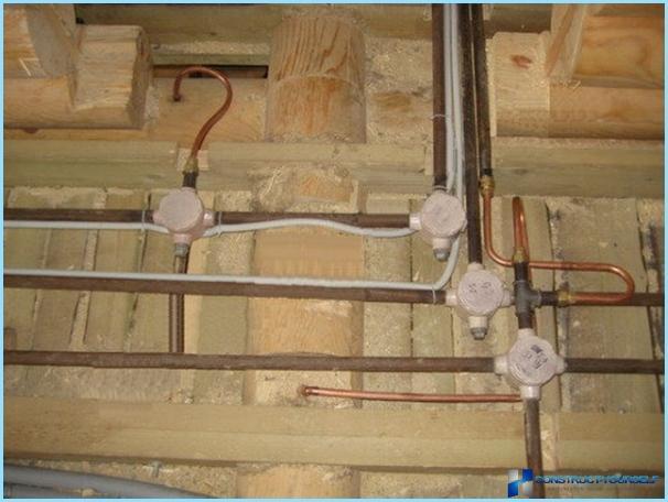 Câblage électrique dans une maison privée