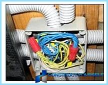 Scheme raskrucheny or connecting electrical cables in the junction box